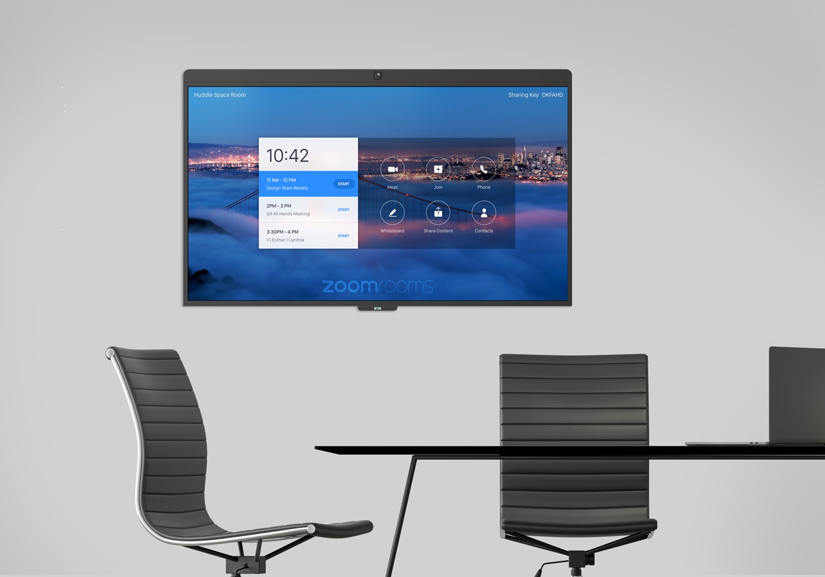DTEN D7 in executive home office for Zoom